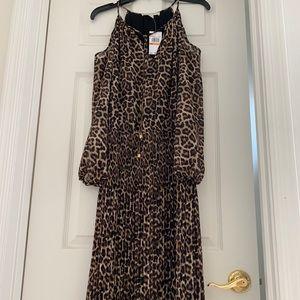 Michael Kors Animal Print Cold Shoulder Dress